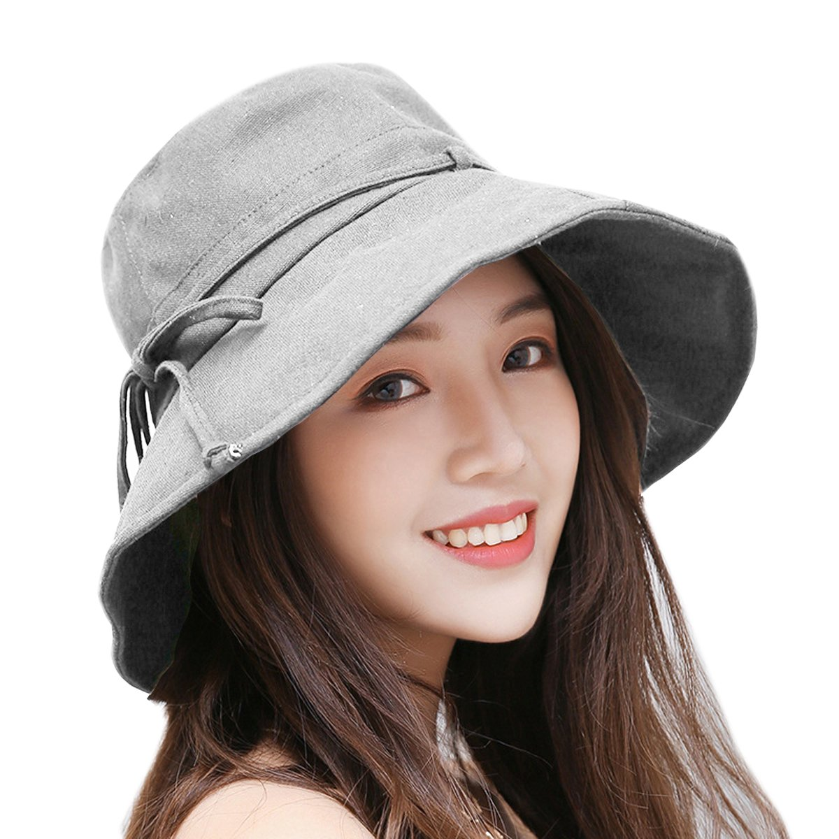 HAPEE Sun Hats for Women,Lovely Summer Ladies Sun Hat Floppy,Packable,uv Protection UPF 50+ NT2373-BG