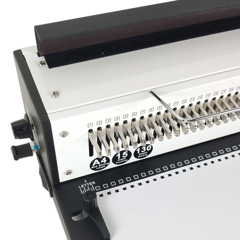 Rayson TD-1500B34-CA Wire Binding Machine 3:1 Pitch 34 Disengaging Dies Square Holes 0.16 x 0.16 Binder Punching 15 Sheets Capacity