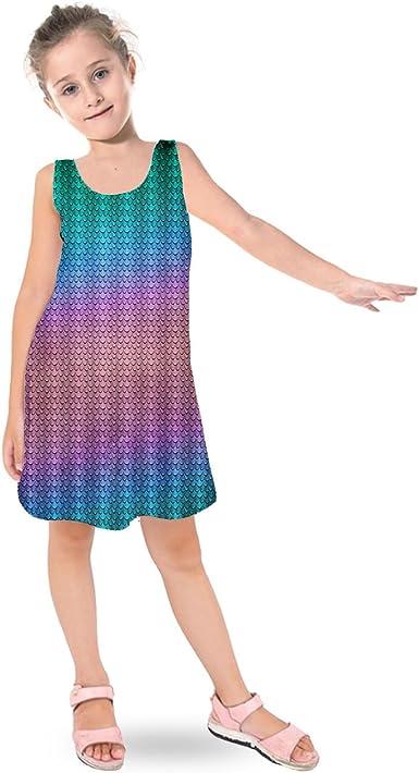 Iridescent Dragon Scales Kids Sleeveless Dress
