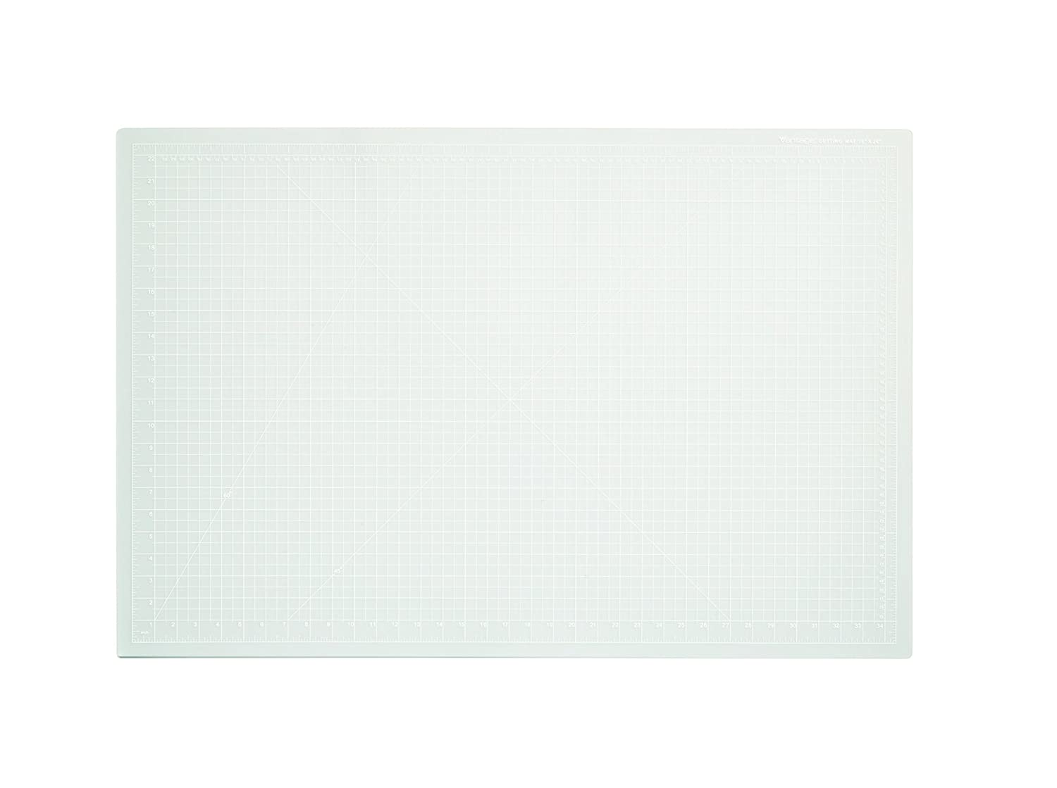 Dahle 10683 Vantage Self-Healing Cutting Mat, 24 x 36, Crystal Clear, 5 layer PVC Construction, 1/2 Grid Lines, Self Healing for Maximum Durability, Perfect for Cropping Photos, Sewing, and Crafts 24 x 36 Crystal Clear 1/2 Grid Lines 10663-12587