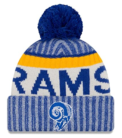 new style fcc55 c2d40 Amazon.com   New Era Los Angeles Rams 2017 NFL Sideline On Field Historic  Sport Knit Hat   Sports   Outdoors