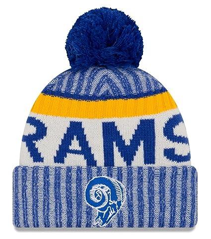 new style fcc55 c2d40 Amazon.com   New Era Los Angeles Rams 2017 NFL Sideline On Field Historic  Sport Knit Hat   Sports   Outdoors
