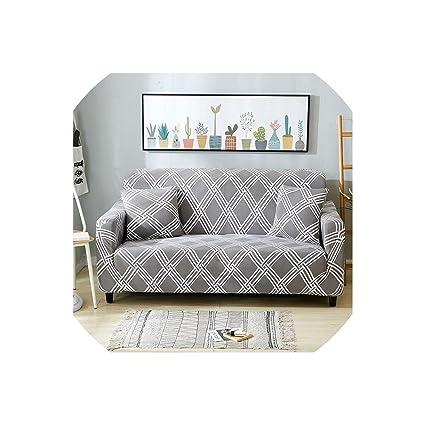 Amazon.com: Hometown Of Dreams Plaid Sofa Cover Stretch ...