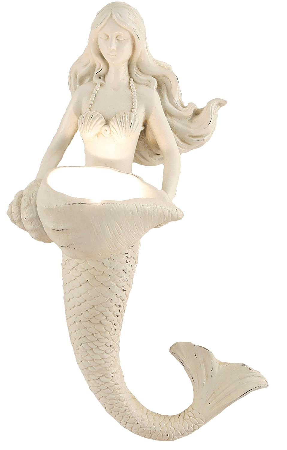Young's Inc 11617 Resin Mermaid Votive Candle Holder, 11.5-Inch