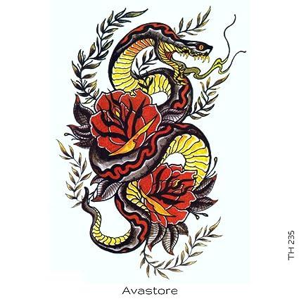 Avastore - Tatuaje temporal, diseño de serpiente de cobra: Amazon ...