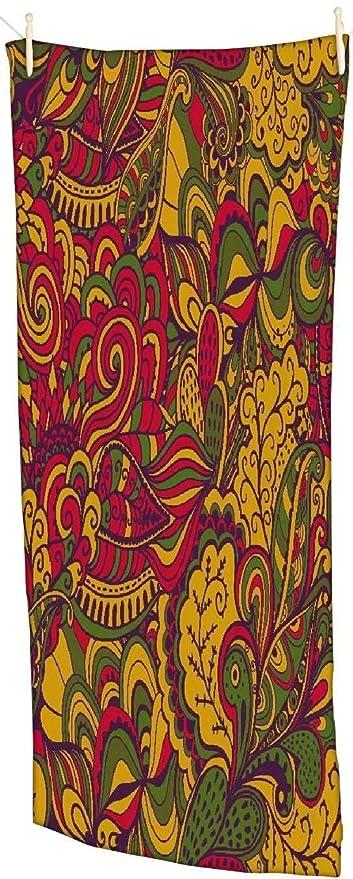 Snoogg Vector Textura Sin Fisuras Con Flores Abstractas Endless Étnico fondo mar toalla de playa Super