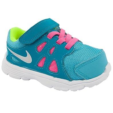 designer fashion 610f1 29f01 Nike Maternelle Filles Revolution 2 BleuRose décontracté Baskets - Bleu -  Bleu,
