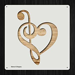Treble Clef reuseable  sturdy Stencil A3 **NEW** A5 A4