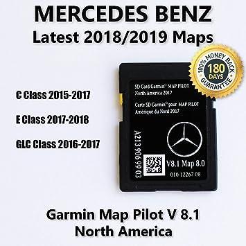 2017 2018 Mercedes-Benz GLC e y clase C mapa SD tarjeta GPS ...