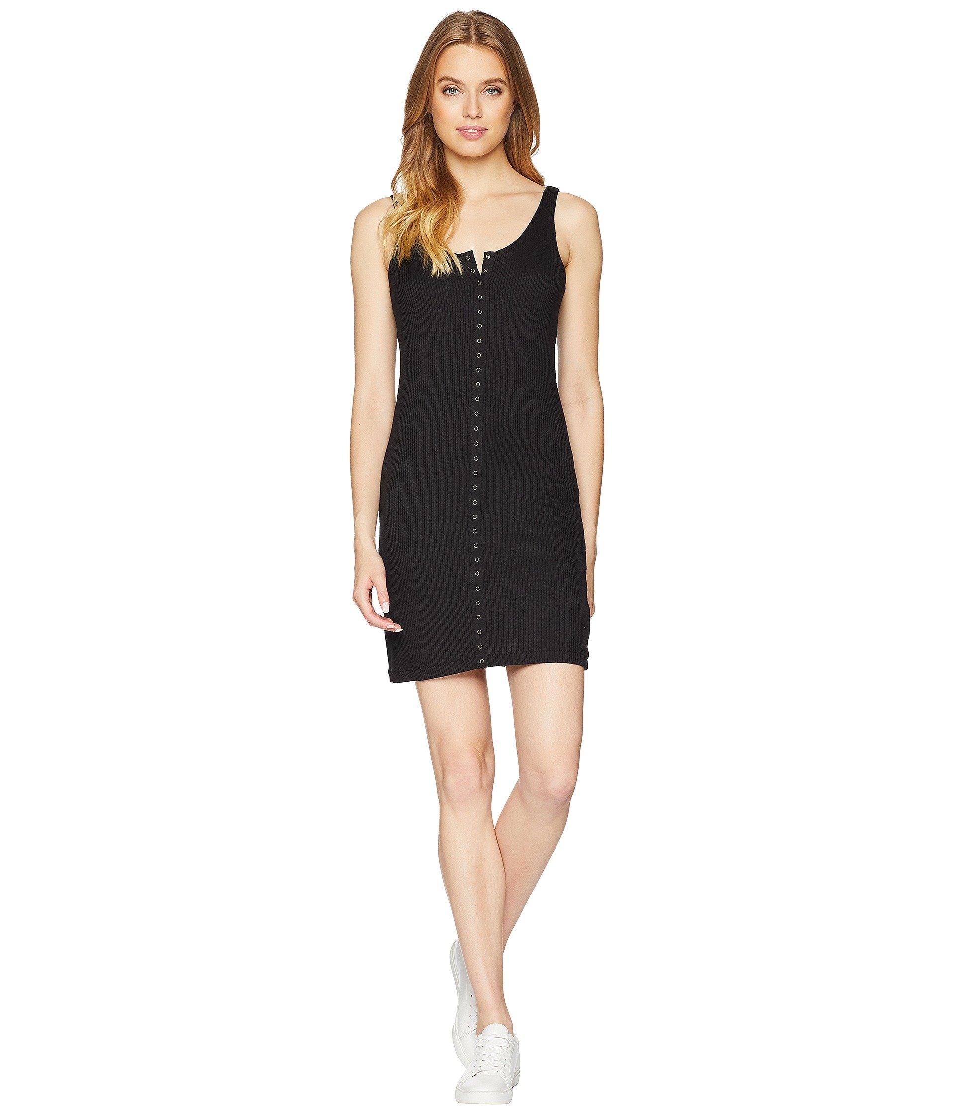 Lucy Love Women's Snap It up Dress Black Large