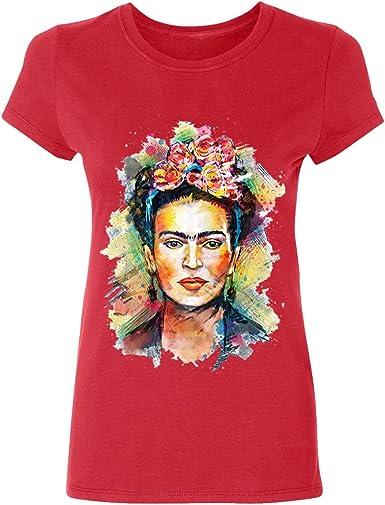 Camiseta para Mujer de Manga Corta Artista Mexicana Frida Kahlo Personalizada: Amazon.es: Ropa y accesorios