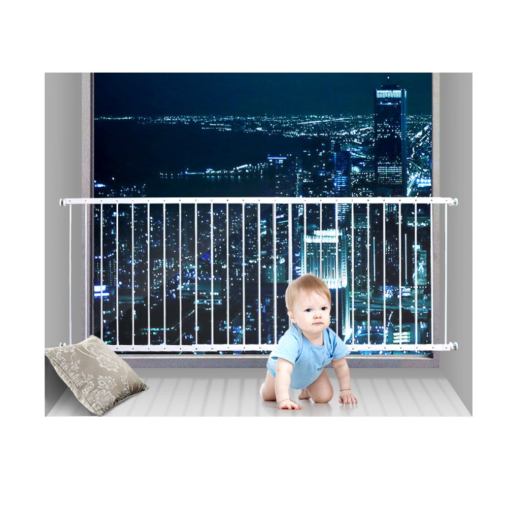 Fairy Baby Window Guards for Children Hole-Free Installation Todder Safety Window Gate Bars White,61.41''-86.61'' by Fairy Baby (Image #1)