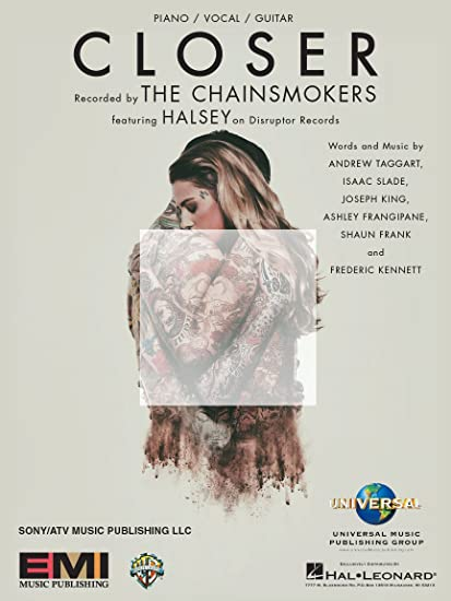 Amazon com: The Chainsmokers feat  Halsey - Closer - Sheet