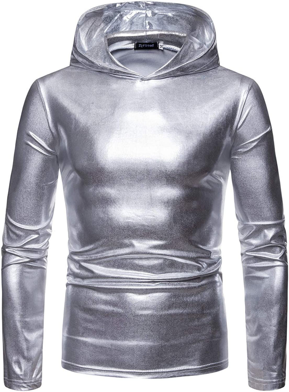 HOSD suéter para Manga Capucha, con Hombre, de Larga Camiseta para Hombre Chaqueta