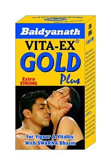 Baidyanath Vita Ex Gold Plus - Made with Pure Shilajit and Fortified with Swarna Bhasma - 20 Capsules