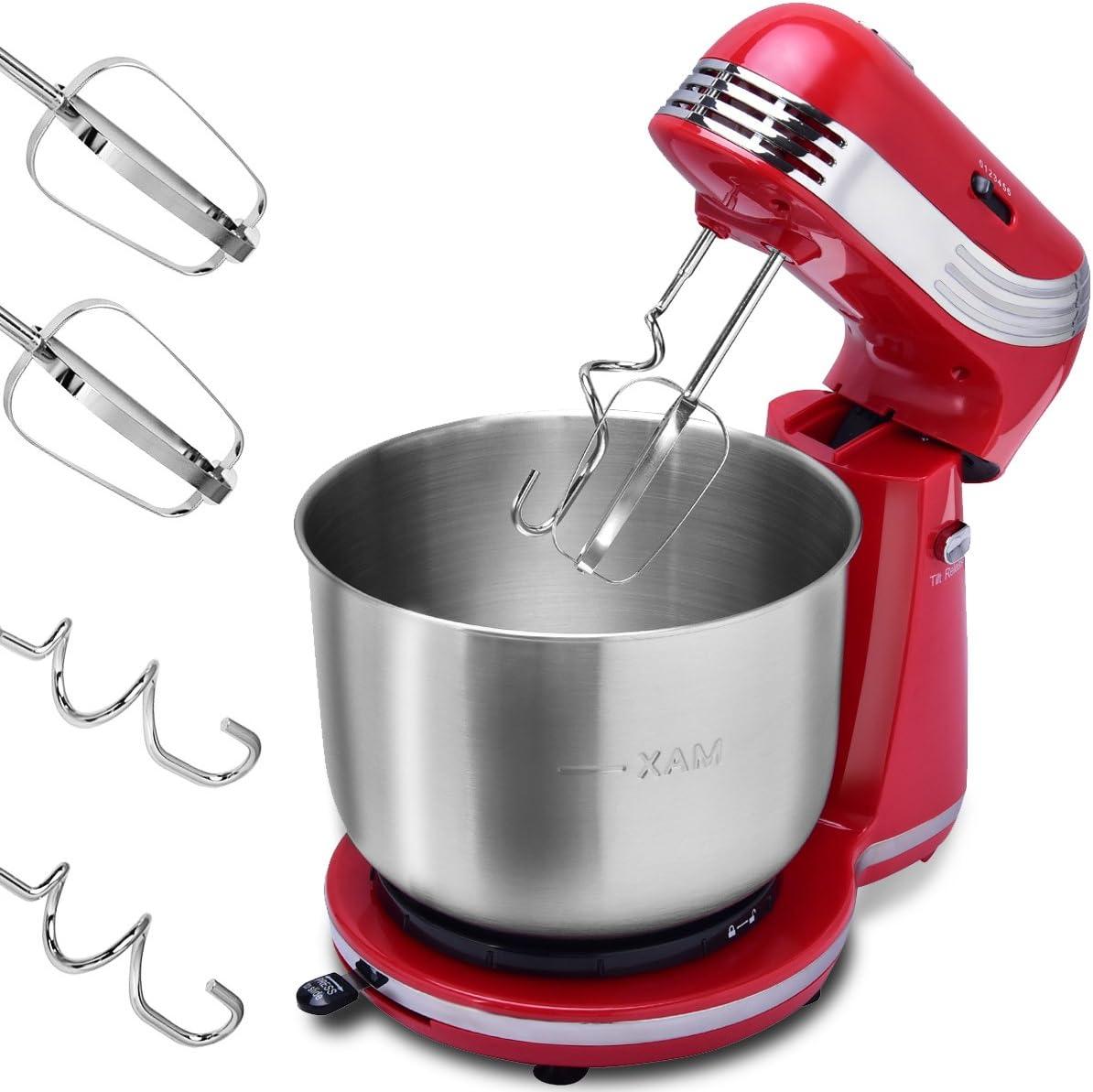 costway – Robot de cocina amasadora – Amasadora Masa eléctrica Nieve y amasar. 250 W 6 niveles de velocidad 3,5L: Amazon.es: Hogar