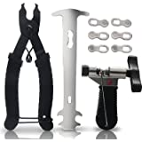 Ponwec Bike Chain Tools with Chain Hook Chain Cutter Bike Link Plier Chain Wear Indicator Tool + 3 Pairs Bicycle Missing Link