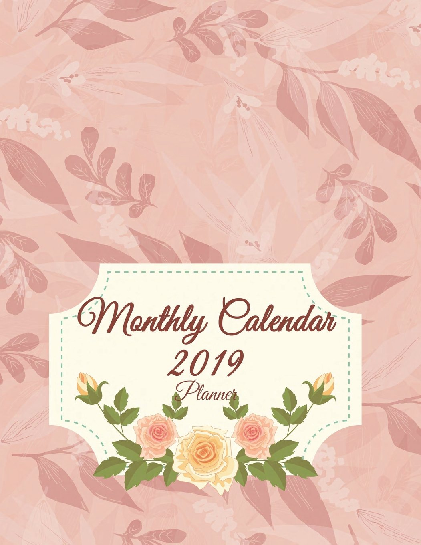 2019 planbook flower calender daily journal planner 12 months