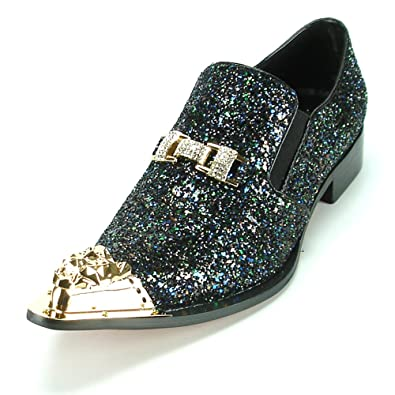 FI-7072 Black Glitter With Gold Ornament and Metal Tip