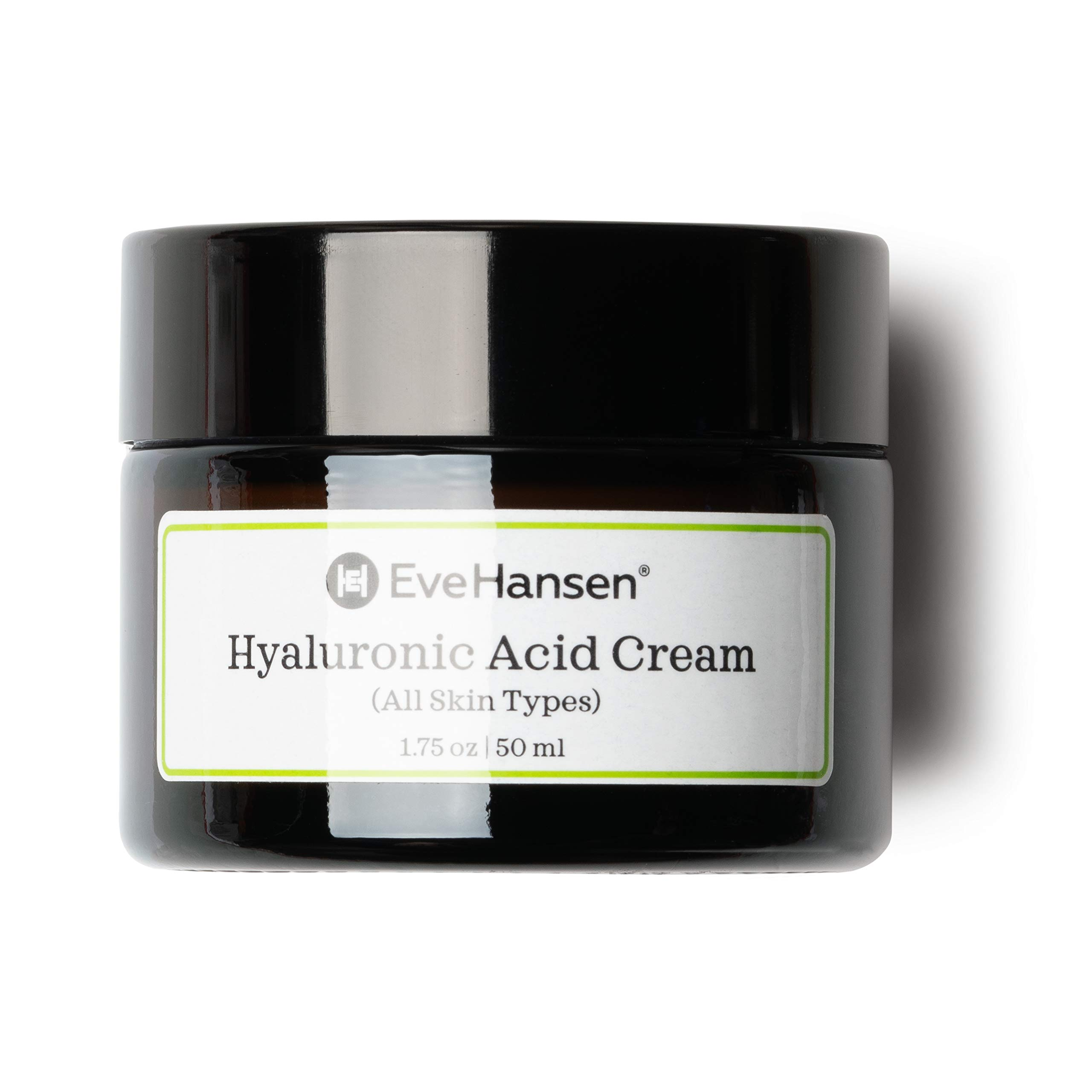 Eve Hansen Hyaluronic Acid Cream for Face | Natural Face Moisturizer, Neck Cream, Anti-Wrinkle Cream | Anti Aging Face Cream for Women, Mens Moisturizer for Face w/Organic Botanical Extracts 1.75oz