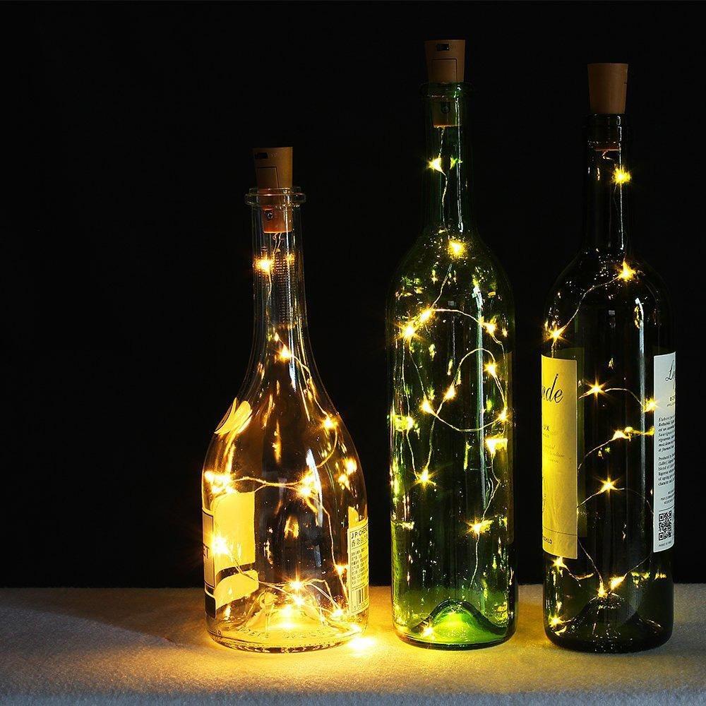 Solar LED Korken für Flaschen