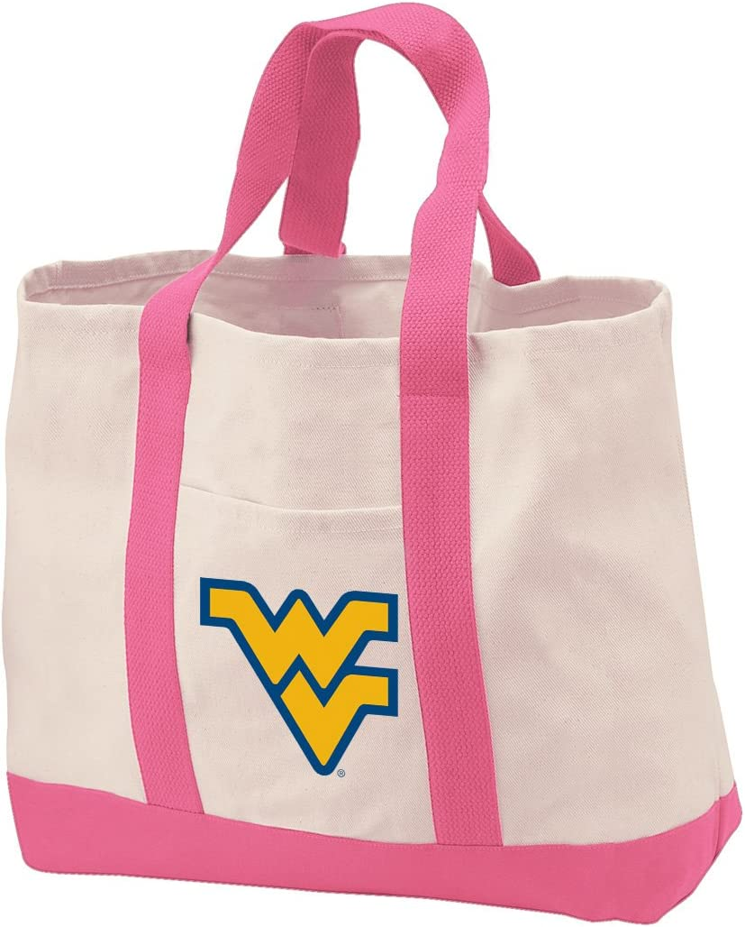 Reusable West Virginia University Grocery Bags or WVU Shopping Bags Natural Cotton