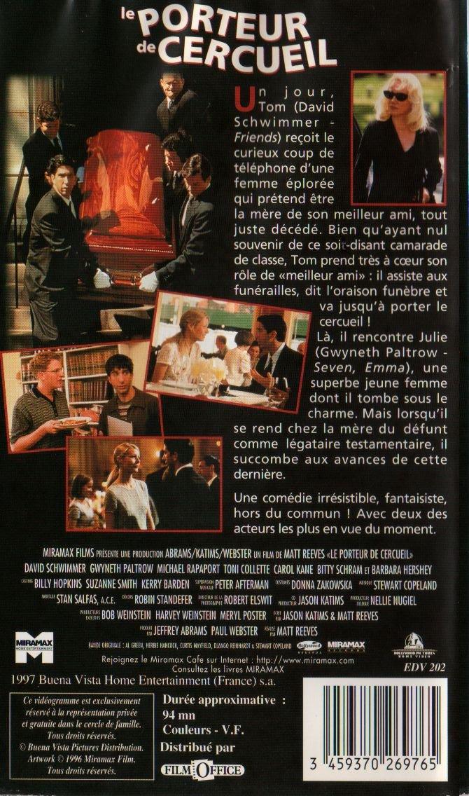 Porteur De Cercueil Le The Pallbear [VHS]: