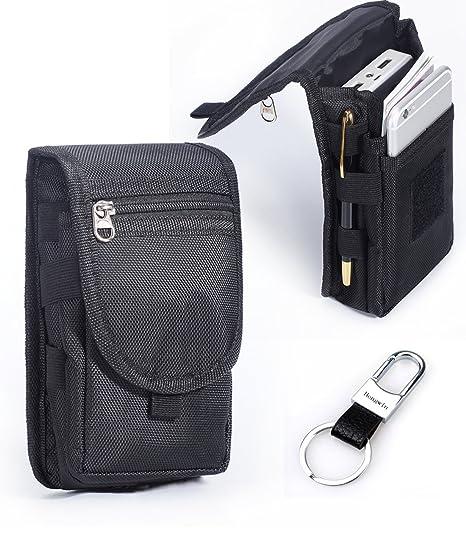 49a15fc1d13 Multipurpose Large Capacity Vertical Nylon Smartphone Holster Belt Loop  iPhone 6plus Holster Belt Clip Waist Bag