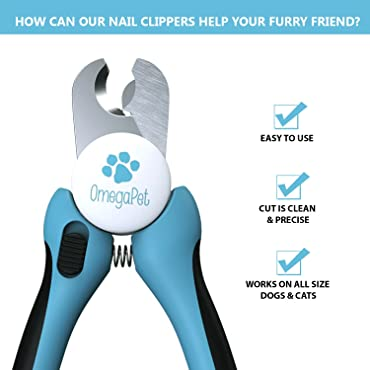 Dog Nail Clippers with Quick Sensor - Professional Dog Nail Trimmer | Best Pet Toenail Clipper and Trimmers for Dogs