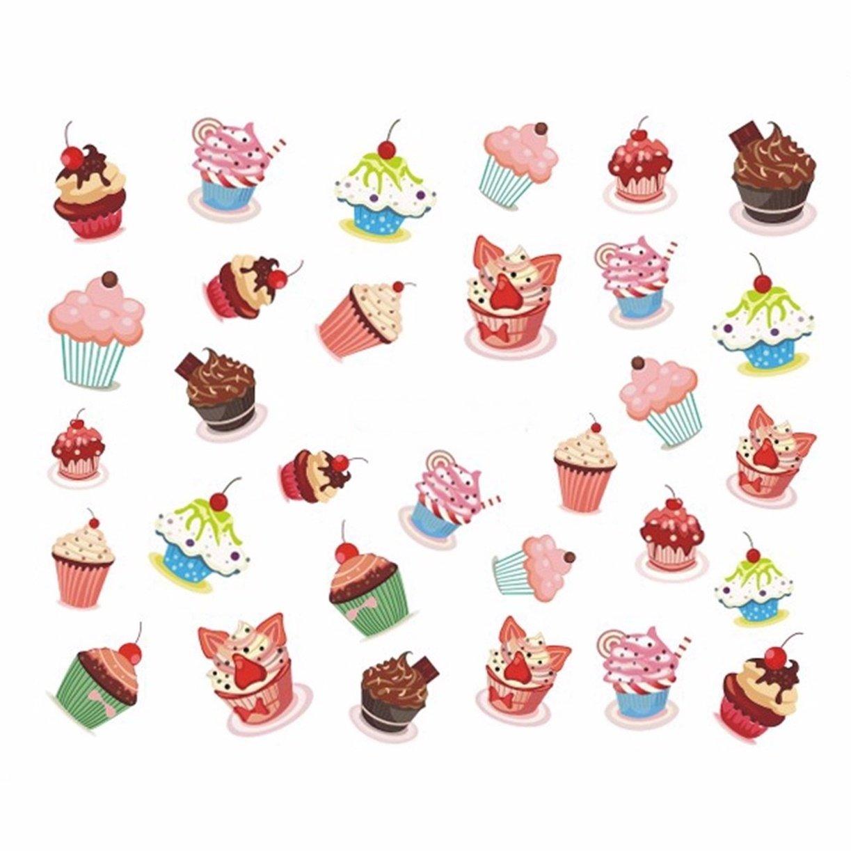 Amazon.com: 1 hoja de pegatinas para cupcakes, pasteles ...