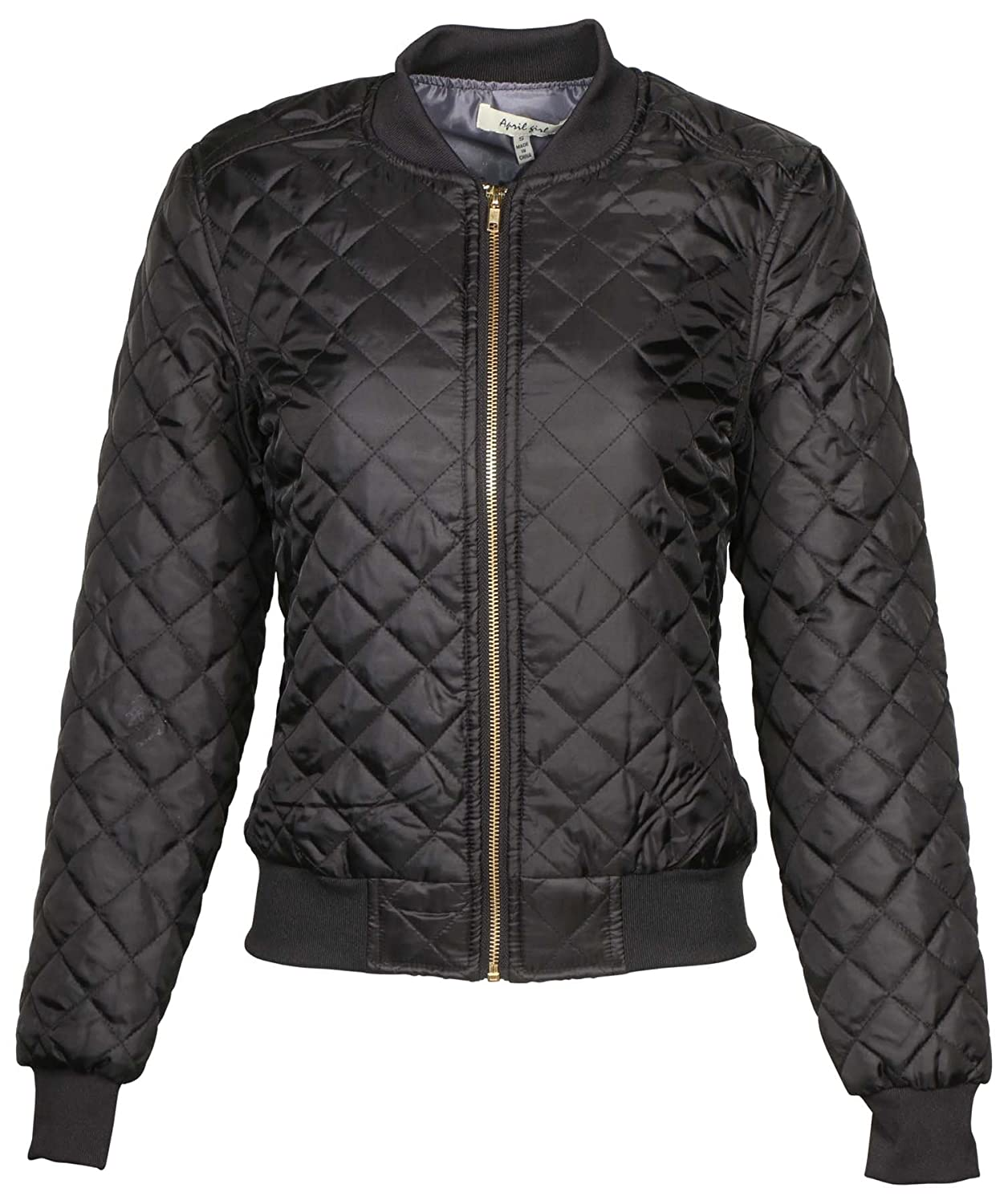 9 Crowns AG Womens Quilted Bomber Jacket by Essentials