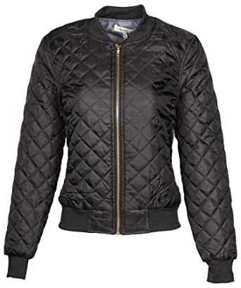 9 Crowns Ag Womens Quilted Bomber Jacket Essentials At Amazon