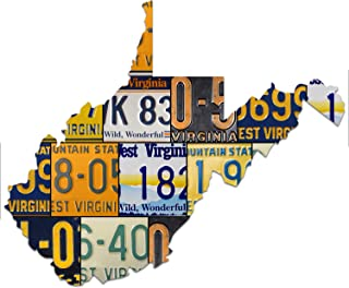 product image for WEST VIRGINIA License Plate Plasma Cut Map Sign, Wild, Wonderful Metal Sign Garage Art Great Gift Man Cave Plasma Cut Aluminum UV Printed Rustic Sign Birthday Gift Patriotic Sign Holiday Gift