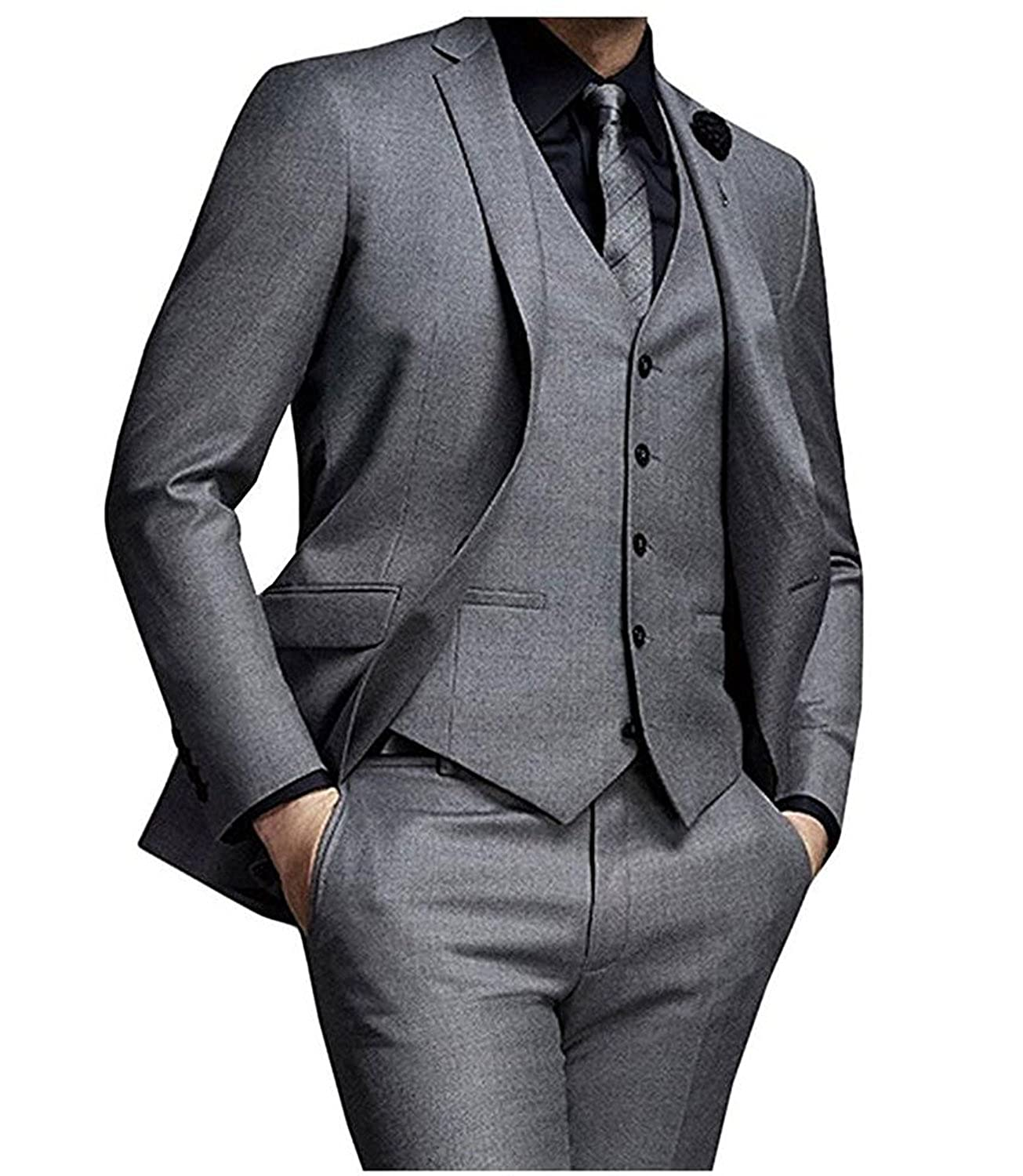 JY Mens 3 Pieces Mens Suits Groom Wedding Party Tuxedos Formal Suits MS17120910