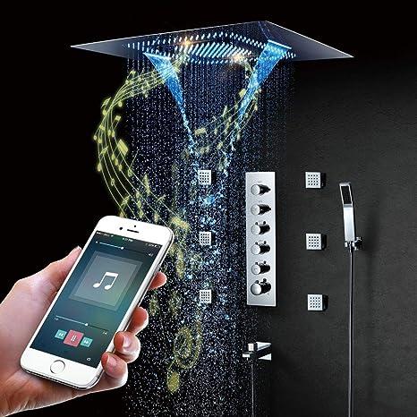 Amazon.com: Sistema de ducha, sistema de ducha termostático ...