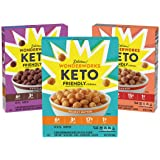 Wonderworks Variety Pack, Keto Friendly Breakfast Cereal, 3 Pack, Chocolate, Cinnamon and Peanut Butter, 10.2 oz boxes
