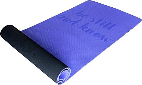 Stillwaters Collective Christian Yoga Mat Christian Exercise Mat – Great Christian Gifts for Women or Men