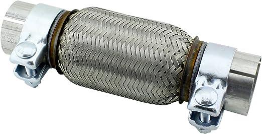 55 X 150 Mm Universal Edelstahl Flexrohr Inkl Montageschellen Auto
