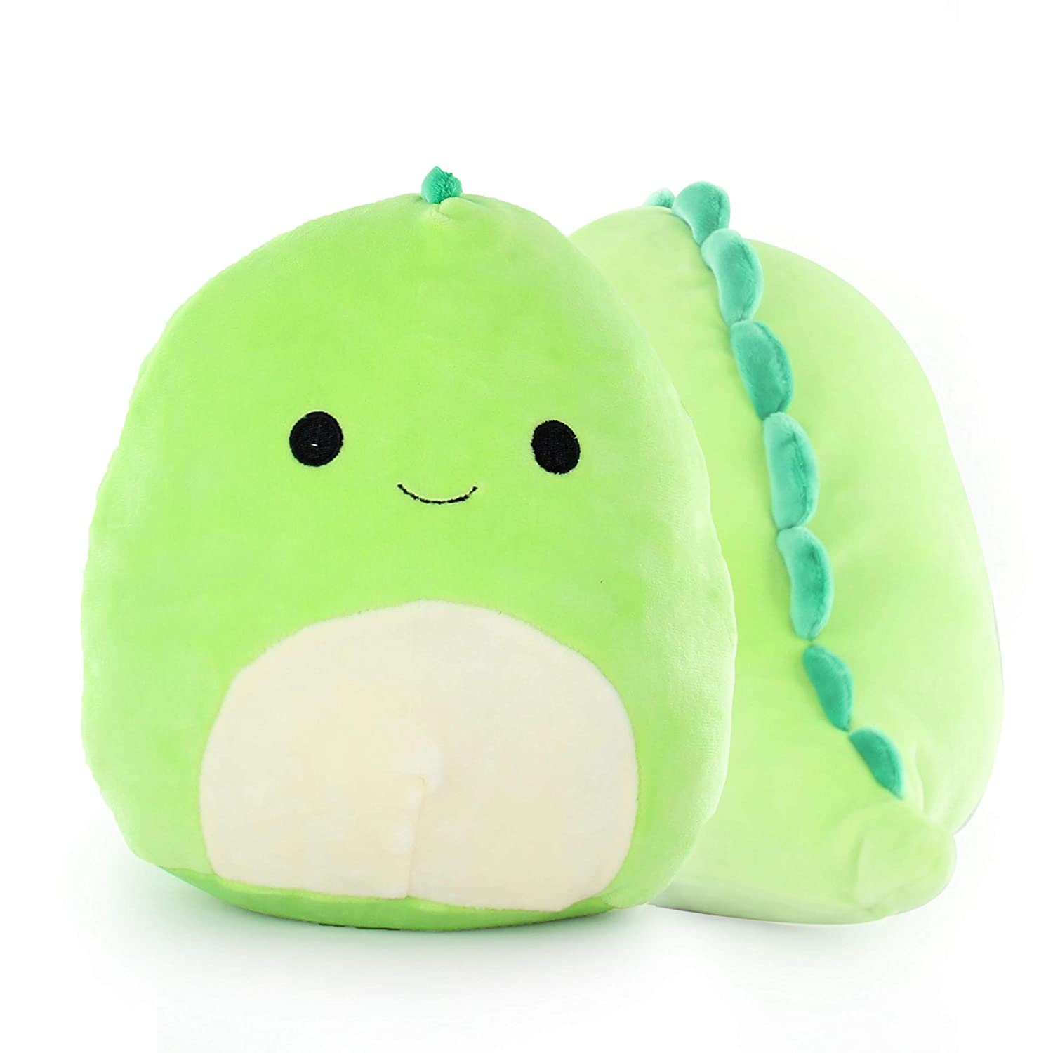 "QuStars Squishmallows 13"" Super Soft Plush Toy Animal Pillow Pal Buddy (Dino)"
