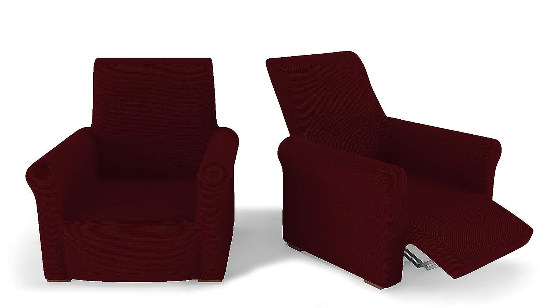 PETTI Artigiani Italiani Rojo, Relax, Funda Sillon Elastica, 100% Made in Italy, 80 a 100 cm