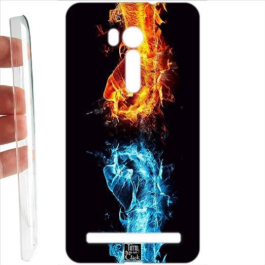 2 opinioni per Custodia cover RIGIDA per Asus ZenFone GO 5,5 ZB551KL 175 acqua fuoco