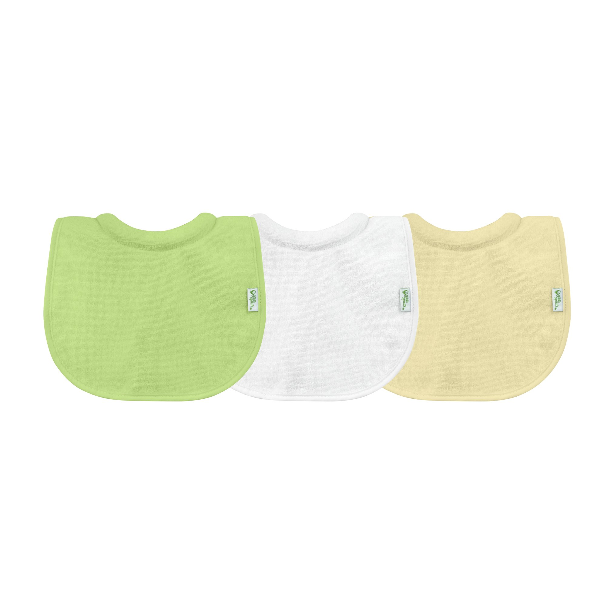 green sprouts Stay-dry Milk Catcher Bib, Green Set (3 Pack)