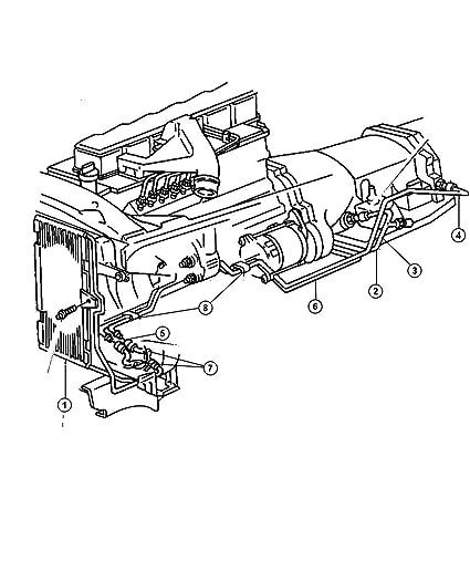 Amazon Com Genuine Chrysler 52028732ac Transmission Oil Cooler