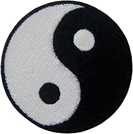 Zegin Yin Yang Taoism Embroidered Iron On Sew On Stains Amazon De Home Kitchen