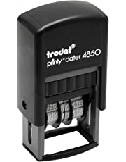 Trodat Economy Self-Inking 5-in-1 Micro Message Date Stamp, Approved, Copy, Entered, and Scanned (E4853L)