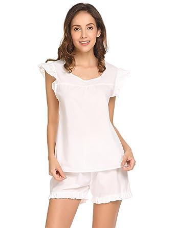 a8a4edfd7 Dorani Women Pajama Set Short Sleeve T-Shirt Top   Shorts Cotton Lounge  Sleepwear Sets