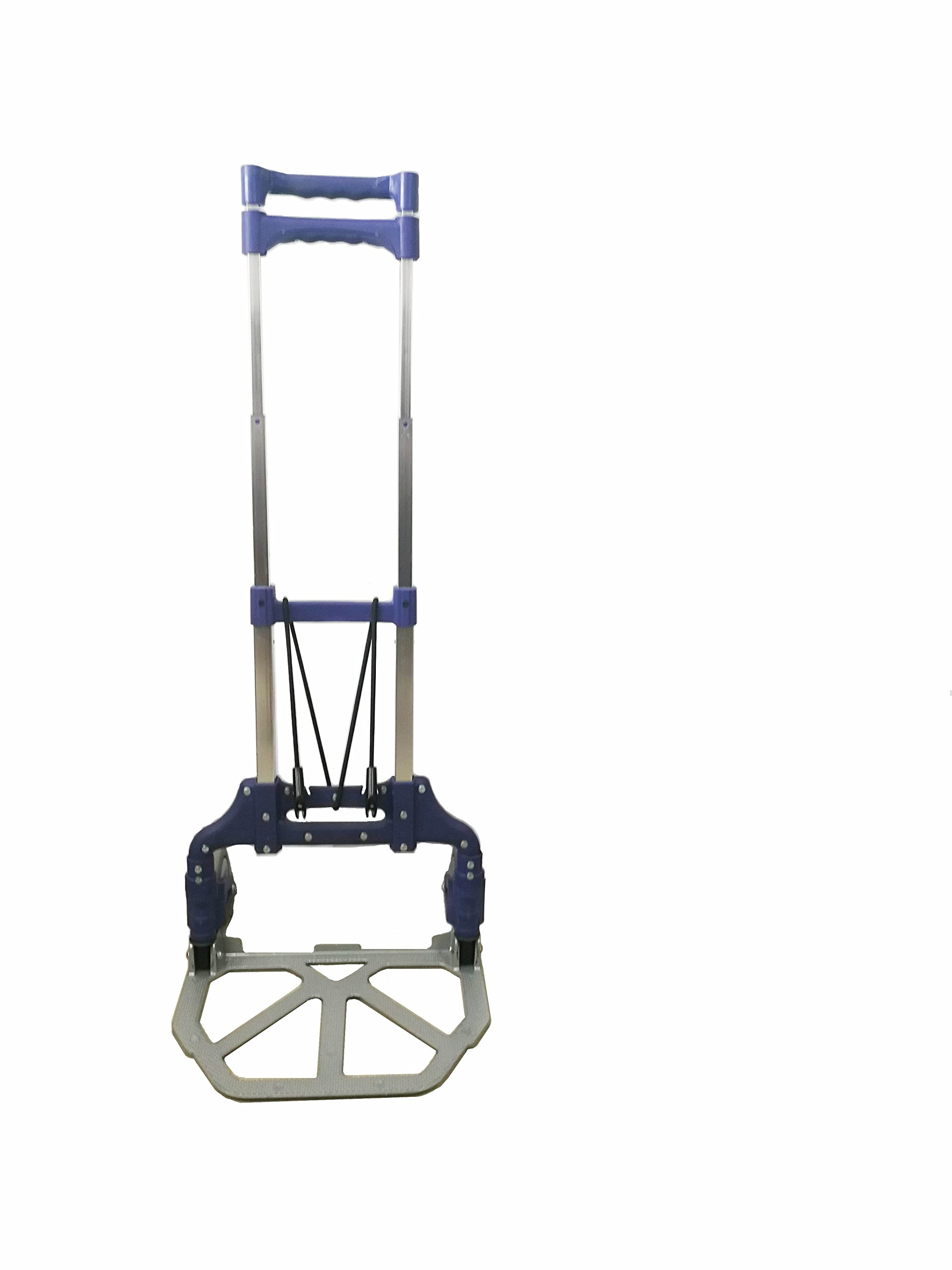 Portable Foldable Luggage Hand Cart Capacity 150Lbs Color Blue