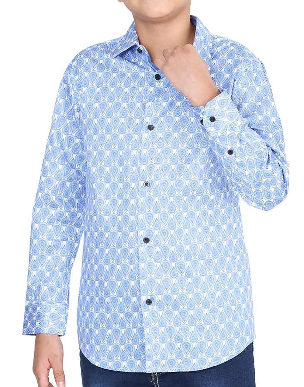 Centenario Boys Casual Shirt Camisa Casual Ni/ño Color Blue