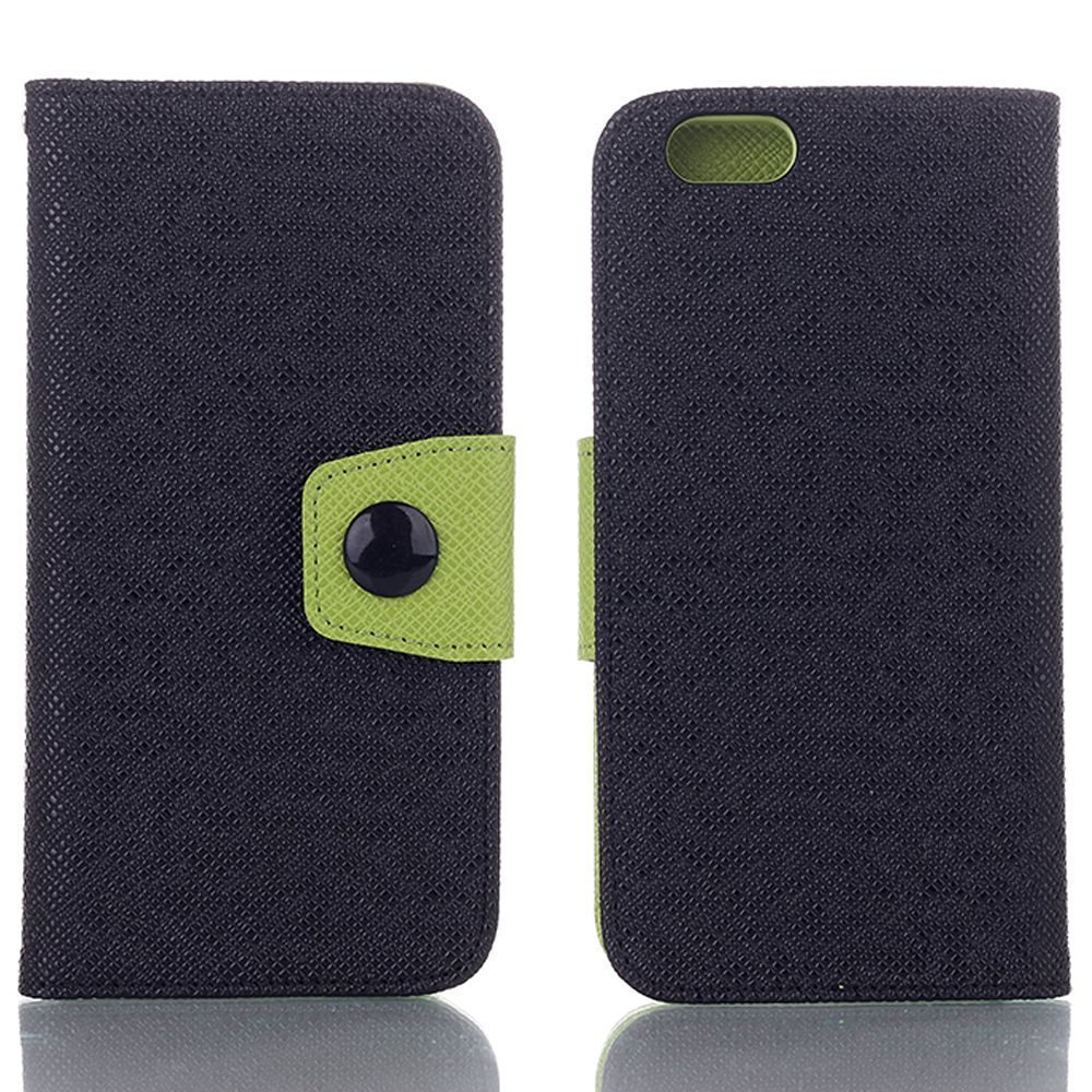 iPhone 6S Case,elecfan Screen Protective with Cards Slots Cash Holder Magnetic Smart Color Stand Cover Flip Card Holder Wallet Case for iPhone 6/iPhone 6S 4.7 inch (iPhone 6/6S, Black)