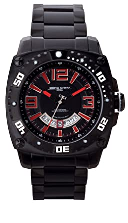 Jorg Gray JG9800-24 Round Watch with Black Solid Stainless Steel Bracelet with Safety Clasp